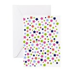 Colorful Star Pattern Greeting Cards (Pk of 10)