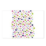 Colorful Star Pattern Postcards (Package of 8)