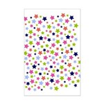 Colorful Star Pattern Mini Poster Print