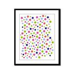 Colorful Star Pattern Framed Panel Print