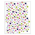 Colorful Star Pattern Small Poster
