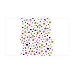 Colorful Star Pattern 38.5 x 24.5 Wall Peel
