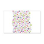 Colorful Star Pattern 22x14 Wall Peel