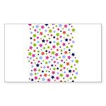 Colorful Star Pattern Sticker (Rectangle 50 pk)