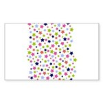Colorful Star Pattern Sticker (Rectangle)
