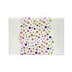 Colorful Star Pattern Rectangle Magnet (10 pack)