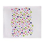 Colorful Star Pattern Throw Blanket