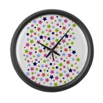 Colorful Star Pattern Large Wall Clock