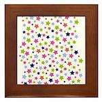 Colorful Star Pattern Framed Tile
