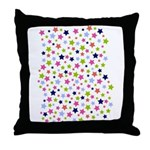 Colorful Star Pattern Throw Pillow