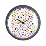 Colorful Star Pattern Wall Clock