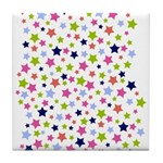 Colorful Star Pattern Tile Coaster