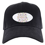 Colorful Star Pattern Black Cap
