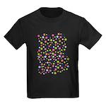 Colorful Star Pattern Kids Dark T-Shirt
