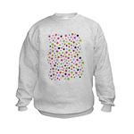 Colorful Star Pattern Kids Sweatshirt