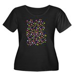 Colorful Star Pattern Women's Plus Size Scoop Neck