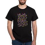 Colorful Star Pattern Dark T-Shirt