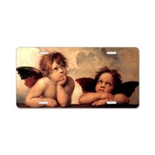 Cherub Angels Aluminum License Plate