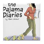 Pajama Diaries Logo Tile Coaster
