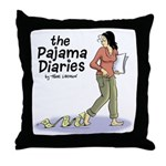 Pajama Diaries Logo Throw Pillow