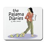 Pajama Diaries Logo Mousepad
