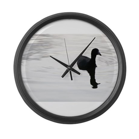 Black and White Duck Large Wall Clock