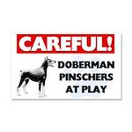 Doberman Pinscher Car Magnet 20 x 12