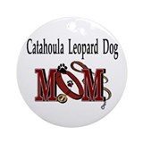 Catahoula leopard dog Round Ornaments