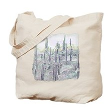Many Saguaros Recreated Tote Bag