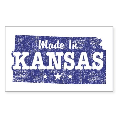 Made In Kansas Sticker (Rectangle)