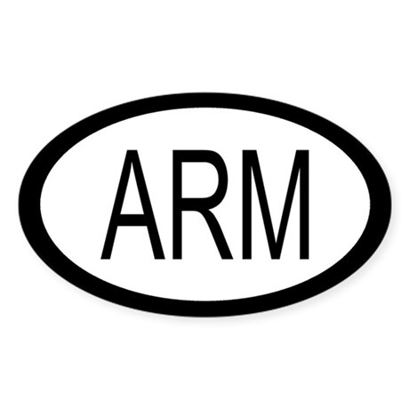 Armenian Car Decal / Oval Sticker