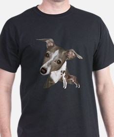 Italian Greyhound art T-Shirt