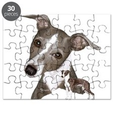 Italian Greyhound art Puzzle