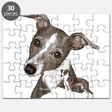 Italian Greyhound art Puzzle