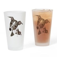Italian Greyhound art Drinking Glass