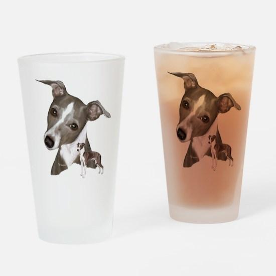 Italian Greyhound art Drinking Glass