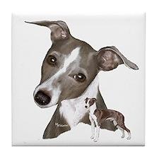 Italian Greyhound art Tile Coaster