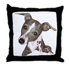 Italian Greyhound art Throw Pillow
