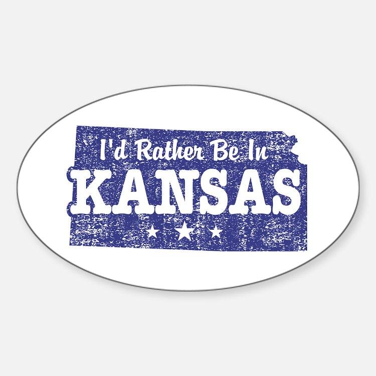 Kansas Sticker (Oval)