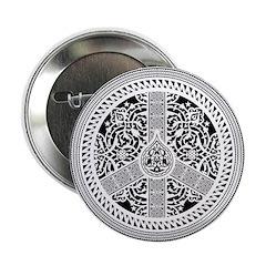 """Peace Arabesque 2.25"""" Button (100 pack)"""