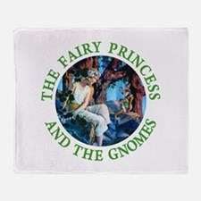 Princess and the Gnomes Throw Blanket