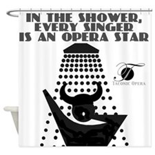 Singing in the shower Shower Curtain
