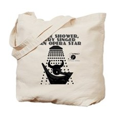 Singing in the shower Tote Bag