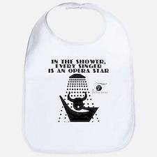Singing in the shower Bib