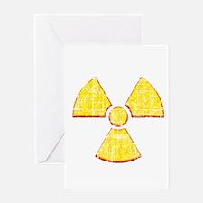 Vintage Radioactive symbol 2 Greeting Card