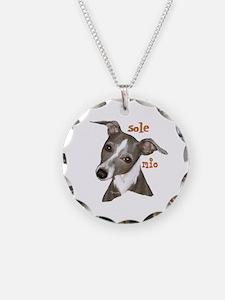 Italian Greyhound art Necklace