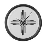 Southwest Zia Large Wall Clock