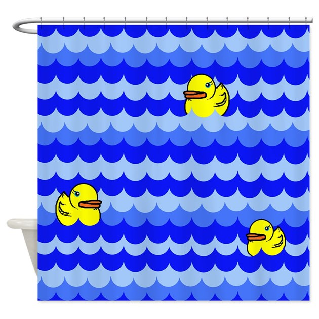 Rubber Ducky Shower Curtain By Gurugoods