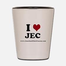 I Heart JEC Shot Glass