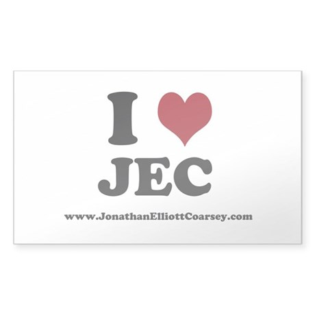 I Heart JEC Sticker (Rectangle)